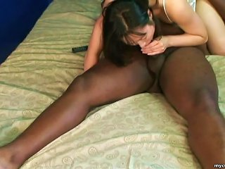 Petite Babe Is Sucking Spicy Black Dong