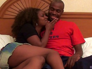 Ebony Slut Has A Smile On A Face And A Hard Pecker So Deep In Her Snatch