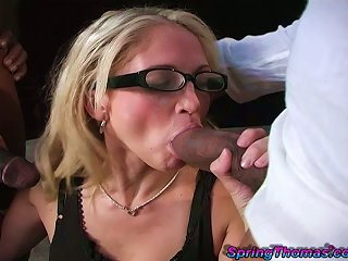 White Girl Fucked Doggystyle Then Swallows Black Guy's Cum